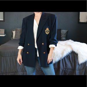 Ralph Lauren Crest Wool Blazer - Like New